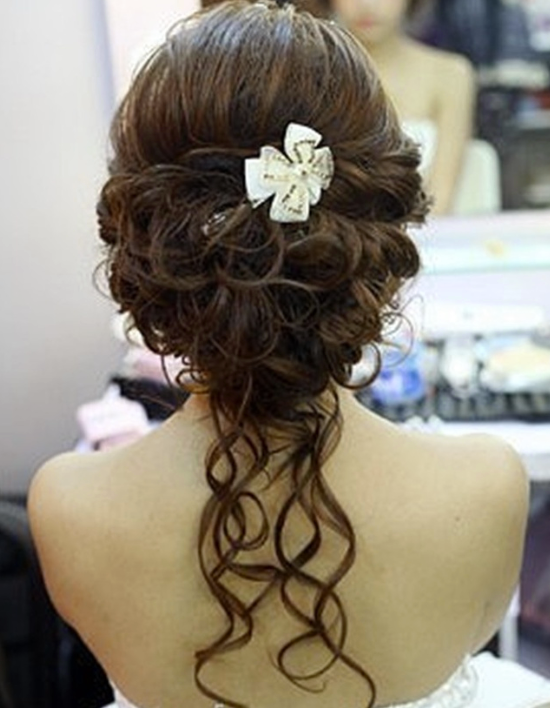 Hot on pinterest updo wedding hairstyles we love short - Chignon boucle mariage ...