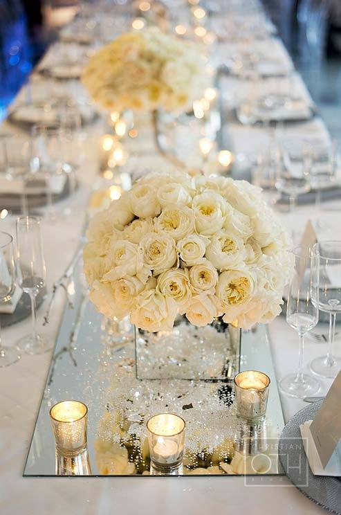 Elegant white wedding reception inspirations junglespirit Image collections