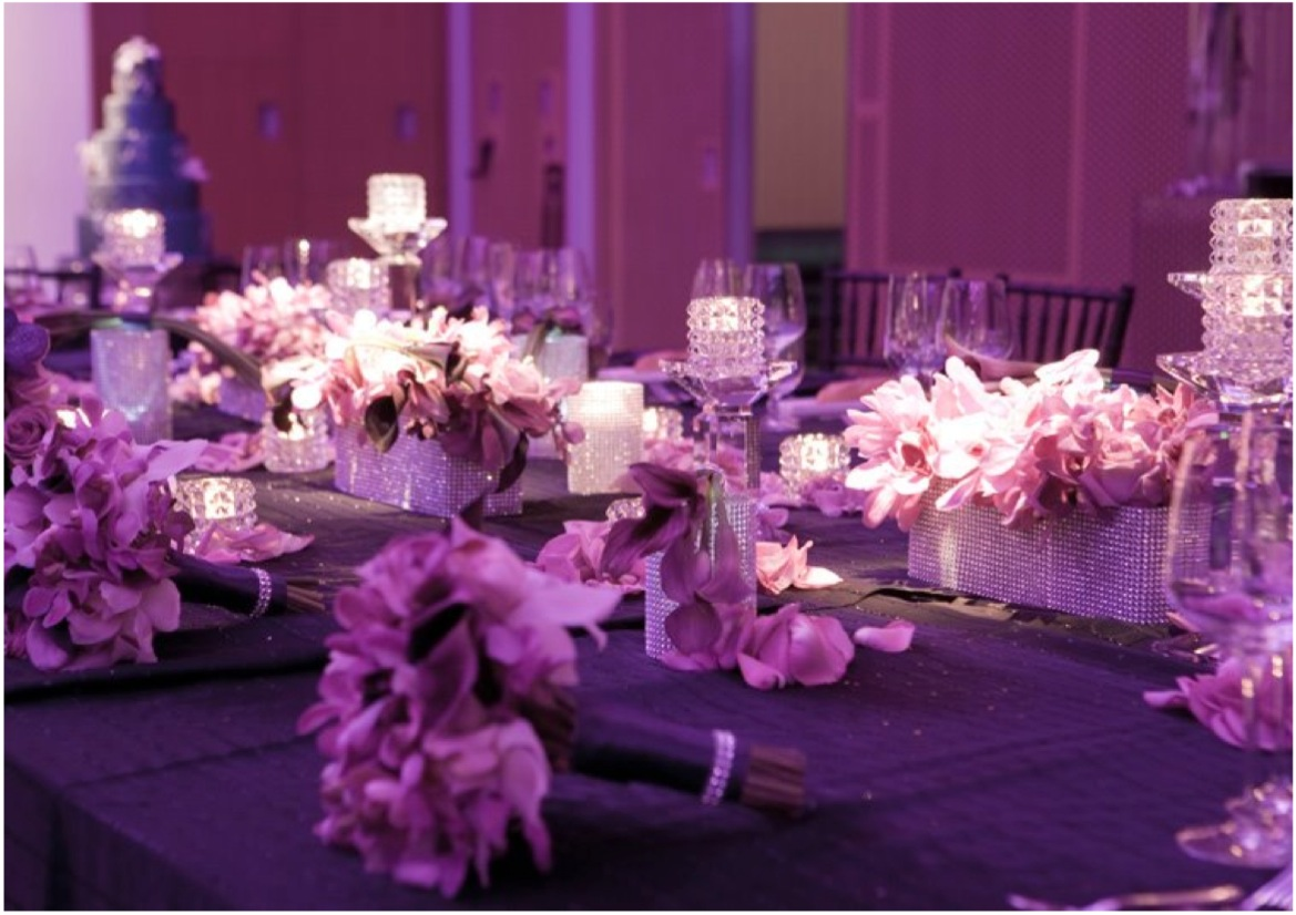 Purple Wedding Reception Table Ideas