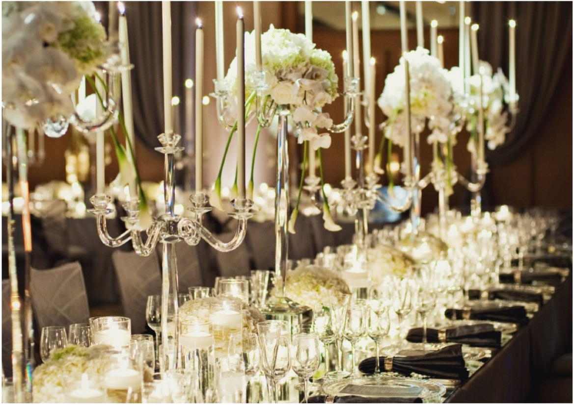 wedding reception ideas the magic of candlelight modwedding - Cheap Wedding Reception Decorations
