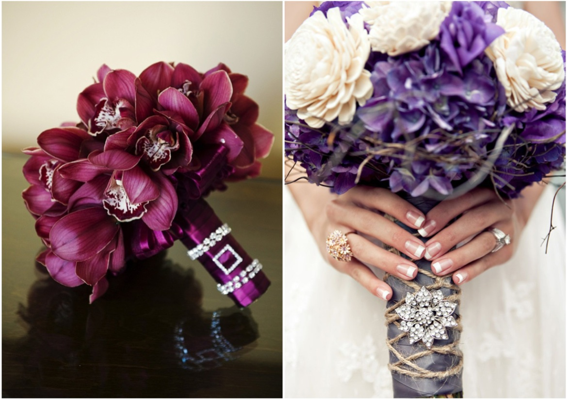 purple bridal bouquets 2