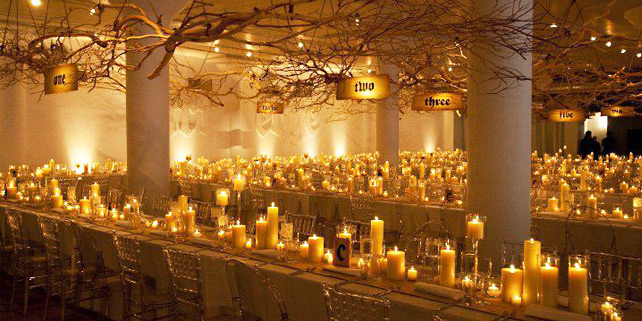 Wedding reception ideas the magic of candlelight modwedding for Cheap romantic things to do in nyc