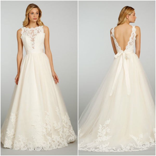 Wedding Dress Lace Top Tulle Bottom Cheap Wedding Dresses