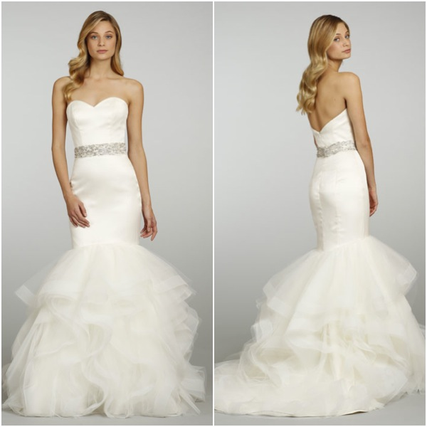Gown With Ruffle Bottom