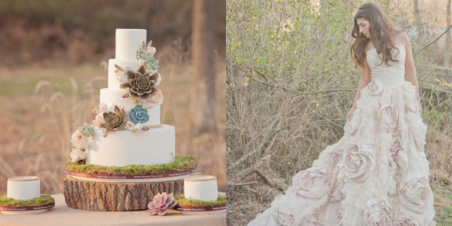 A Sweet and Stylish Bohemian Wedding Shoot