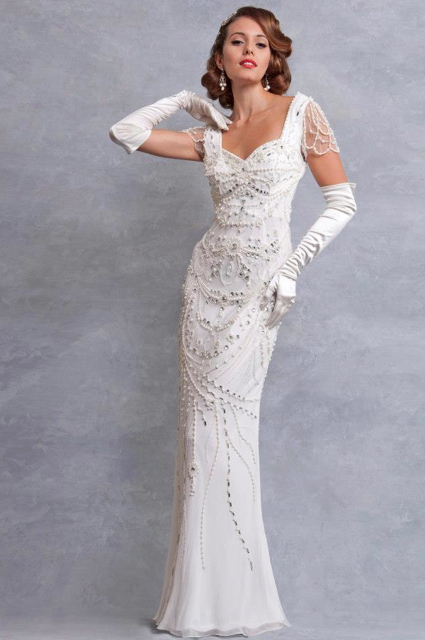 Wedding Dresses With Gloves Vintage Inspired Eliza Jane Howell