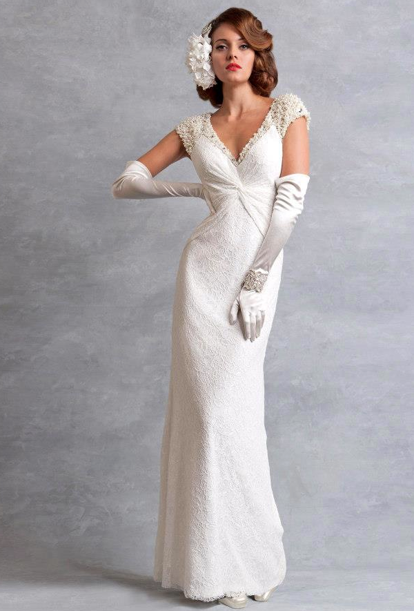 Vintage 40s Inspired Wedding Dresses Dressesss