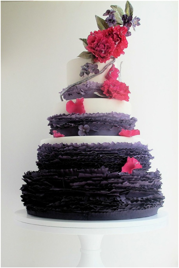 Sweet Ombre amp Ruffled Wedding Cake treats Often associated with celebration cakes are both a beautiful and tasty part of any wedding day! Mix a little ombre