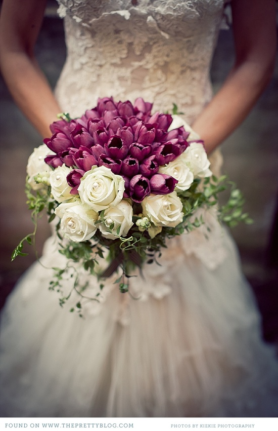 Simply sweet tulip bridal bouquets modwedding