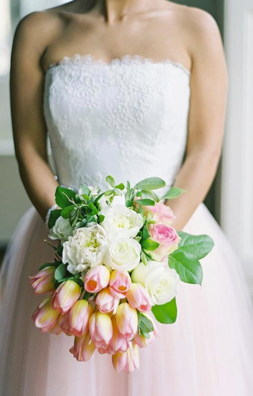 Wedding Bouquets Of Tulips : Simply sweet tulip bridal bouquets modwedding