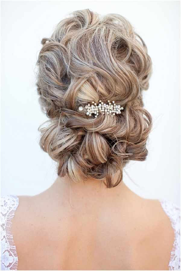Why do we love this elegant wedding hairstyle updo? Perfect curls come ...
