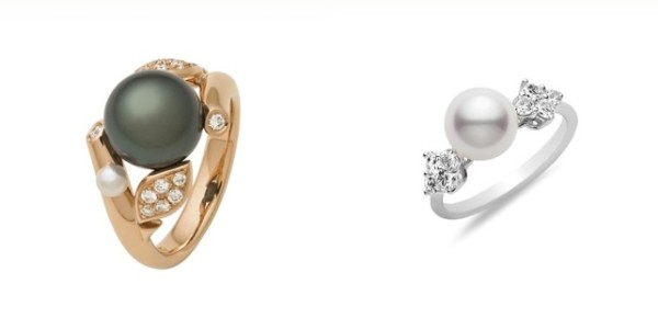 Pearl Mikimoto Engagement Rings for the Unique Bride