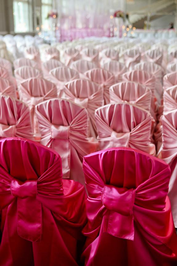 ombre wedding seating
