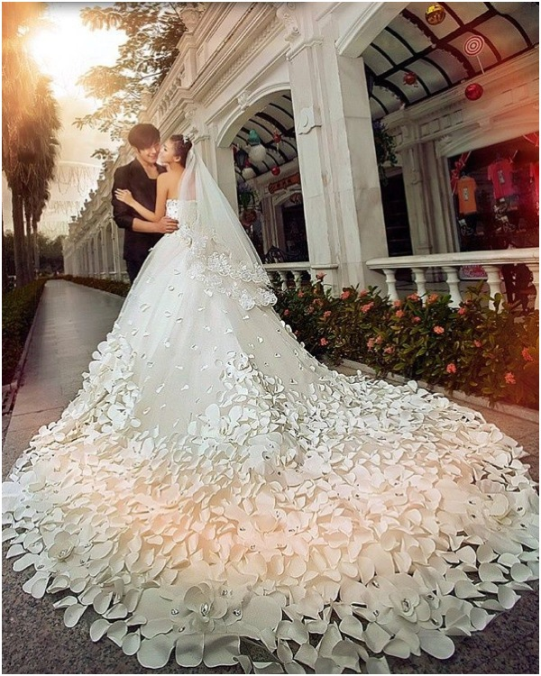 floral wedding dresses pinterest