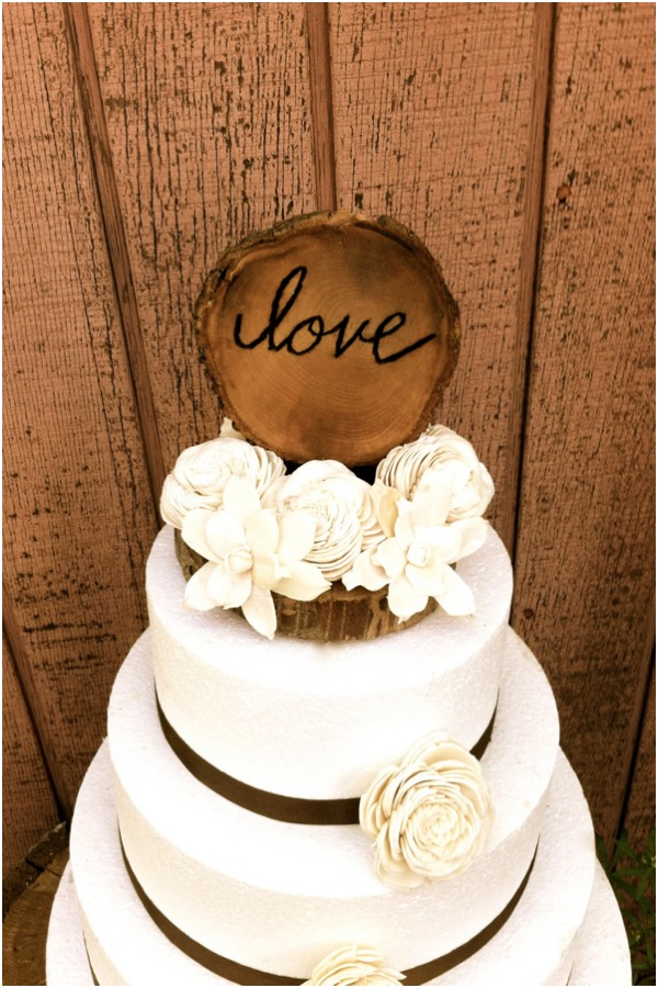 Simple Rustic Wedding Cake Toppers Gallery For Gt Chic