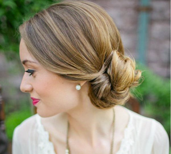 Bridesmaid Hairstyles Low Bun Updo Wedding 10 071513