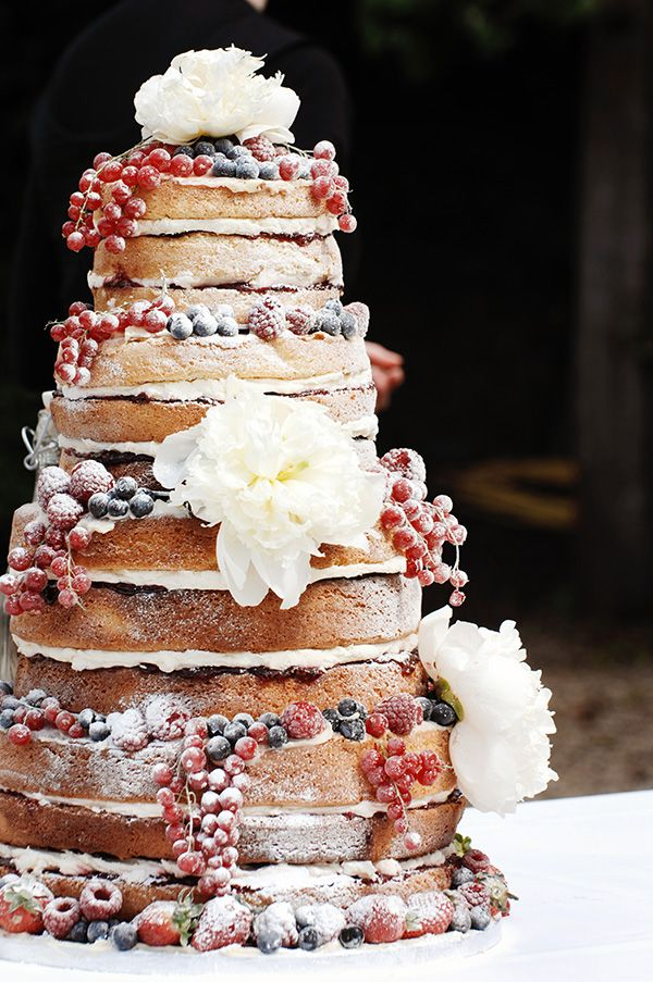 Prettiest Naked Wedding Cakes You Ever Did See MODwedding