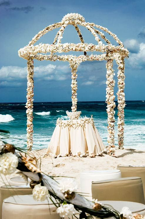Beach Wedding Decoration Ideas Diy : Beach wedding ceremony