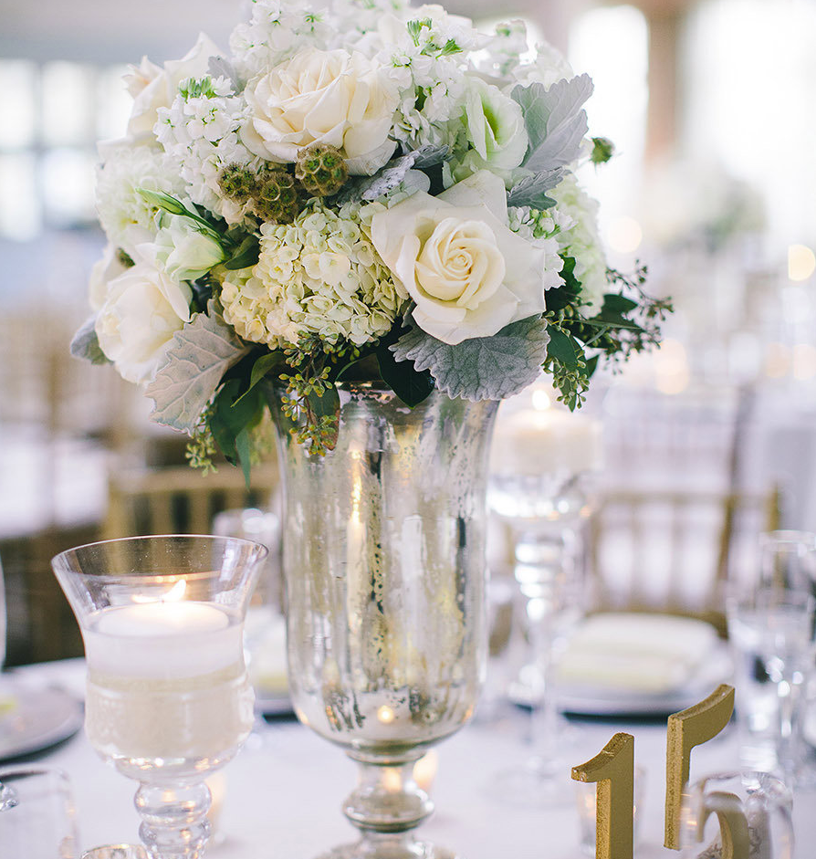 20 spectacular wedding centerpiece decor ideas modwedding for Floral wedding decorations ideas