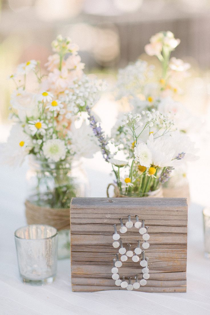 Unique Wedding Reception Table Number Ideas: . . .