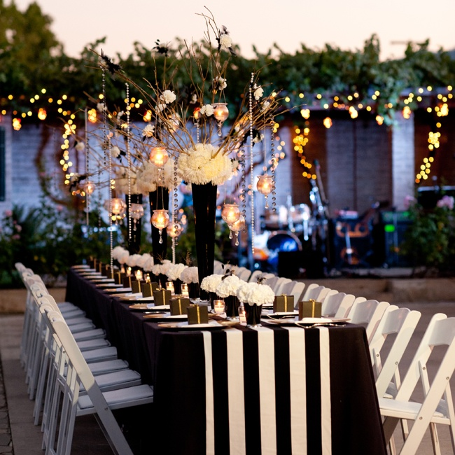 Permalink to Black And White Wedding Ideas Reception
