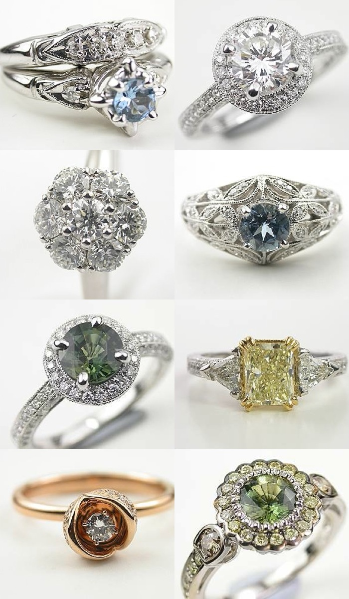 timeless beauty: antique style engagement rings