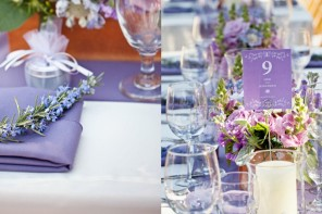 Stunning Wedding Centerpiece Ideas with Chic Purple Hue