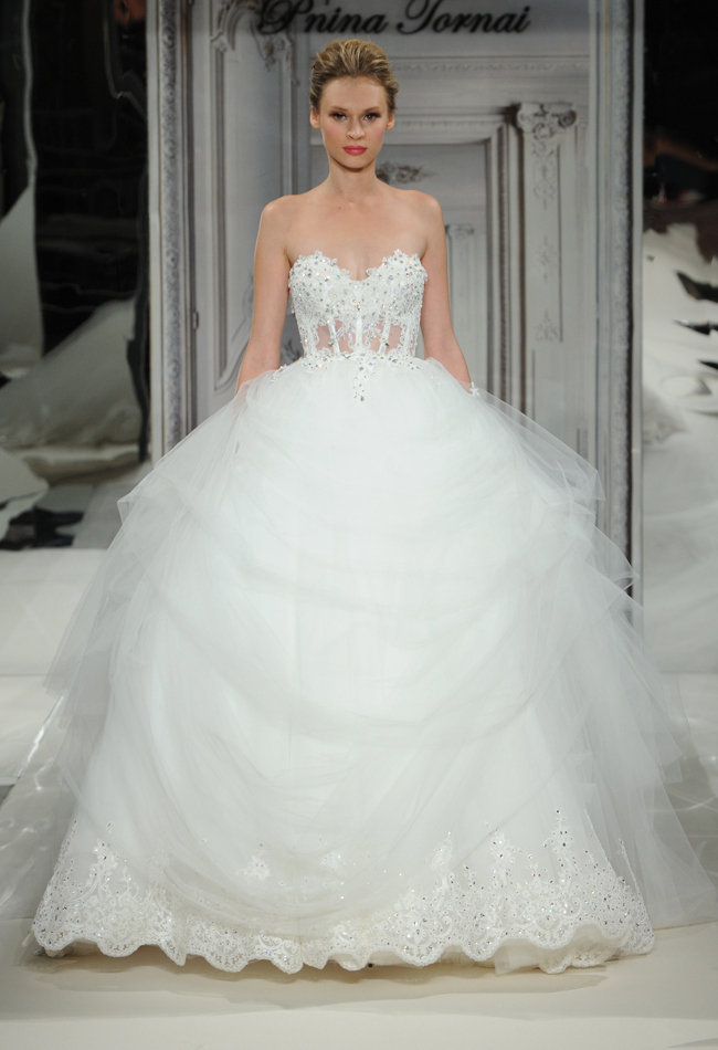 Daring and sexy pnina tornai wedding dresses spring 2014 for Pictures of sexy wedding dresses