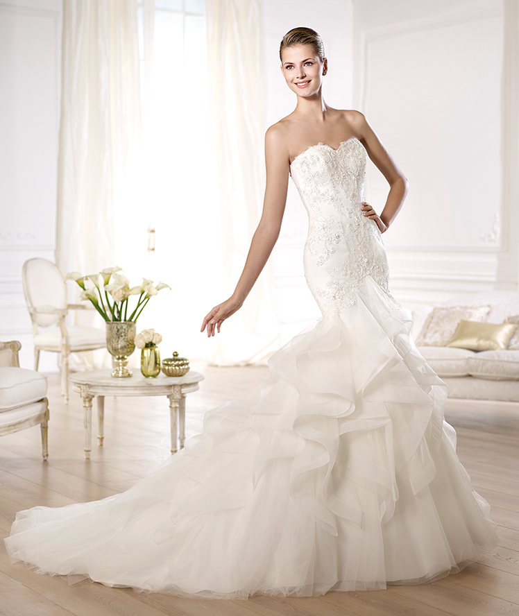 Latest Wedding Gowns 2014: Glamorous Pronovias Wedding Dresses 2014 Dreams Collection