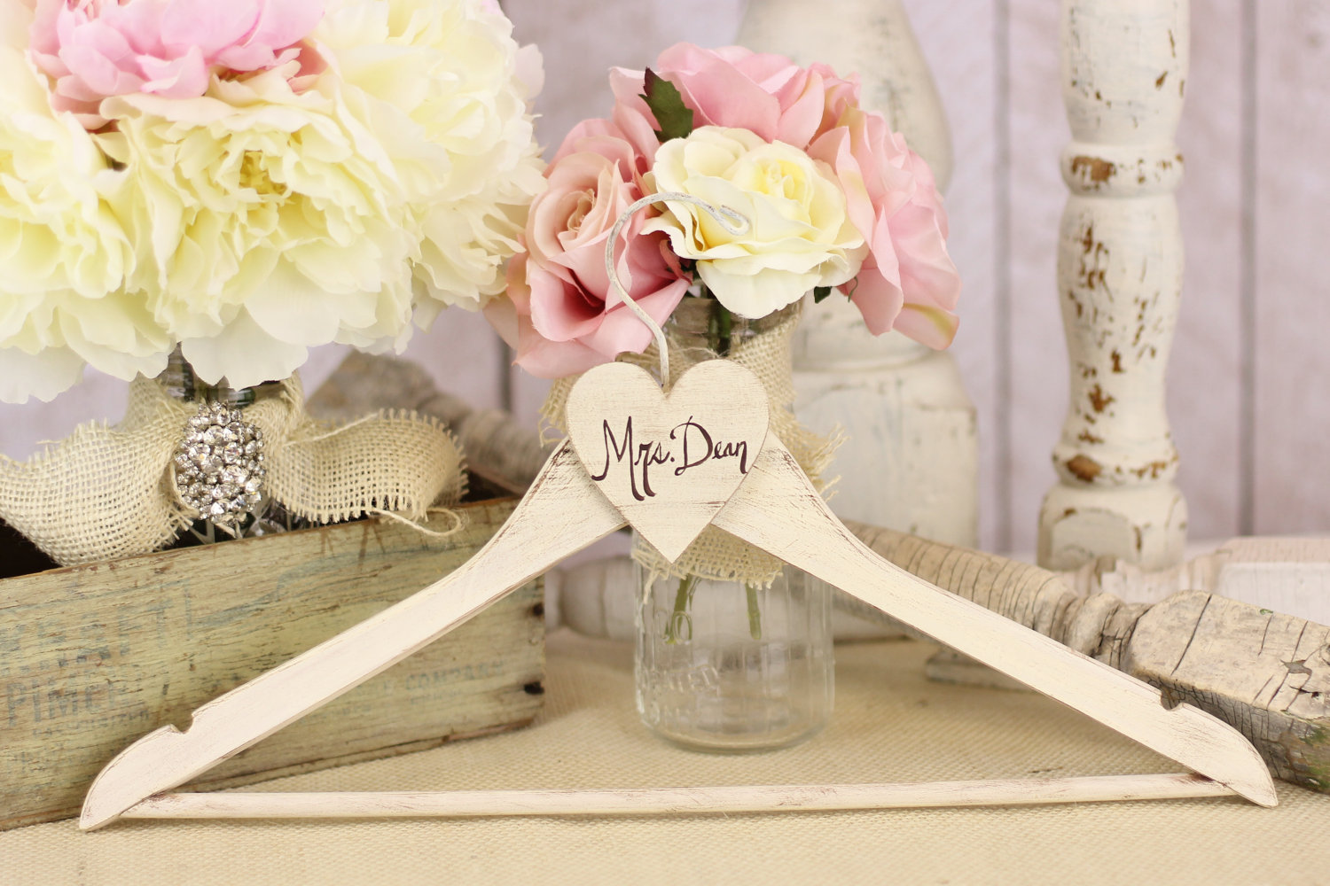39 rustic chic wedding decoration ideas modwedding for Deco shabby chic pas cher
