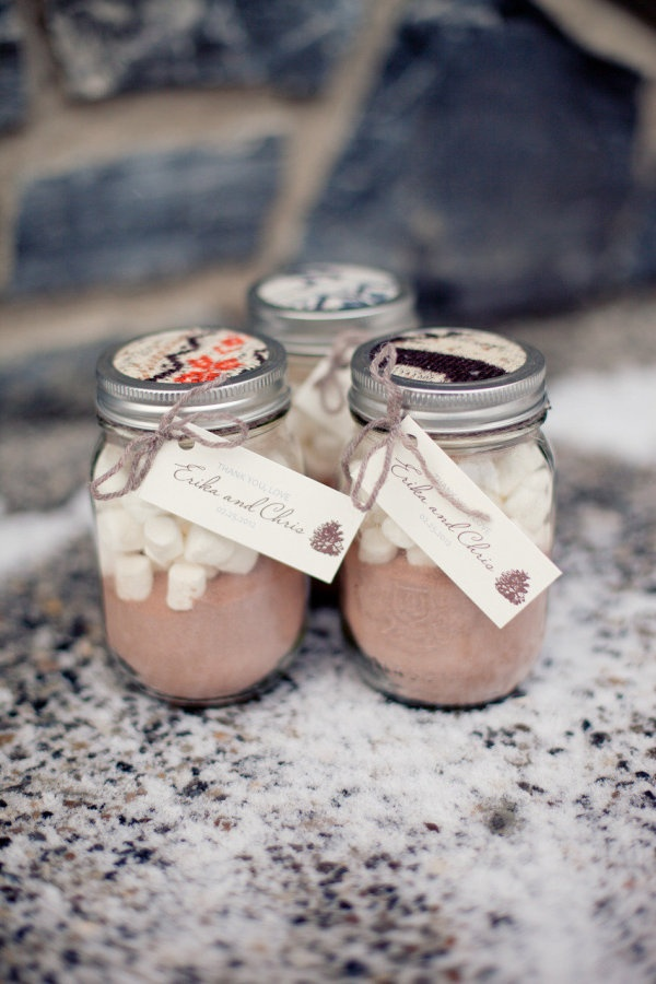 Wedding Favor Ideas 2014 : hot cocoa wedding favors. Such a sweet touch for a winter wedding ...