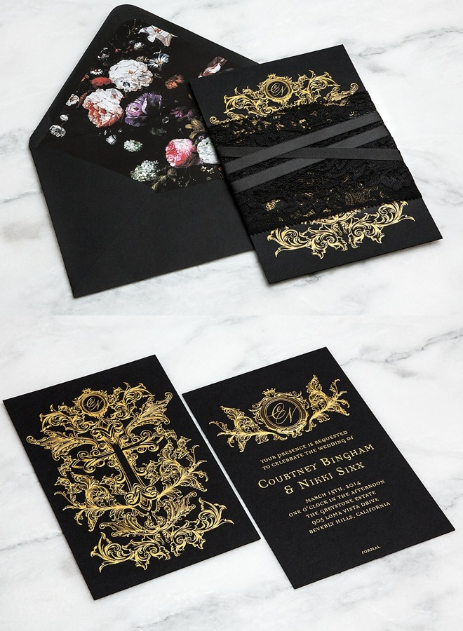 Striking wedding invitations modwedding wedding invitation ideas 1 04182014nz junglespirit