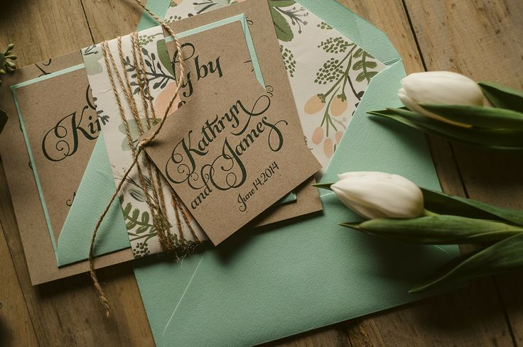 beautiful affordable letterpress wedding invitations  modwedding, invitation samples