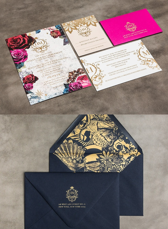 Striking wedding invitations modwedding more stopboris Choice Image