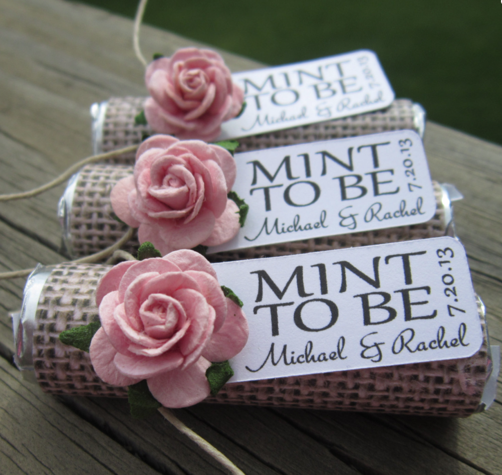 Unique mint wedding favors modwedding for Wedding favor supplies