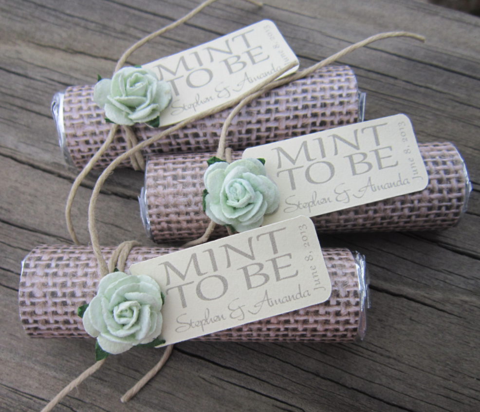 Unique mint wedding favors modwedding for Different engagement party ideas
