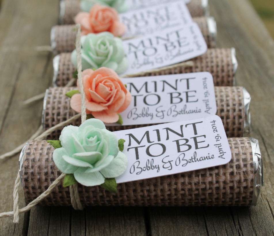 Unique mint wedding favors modwedding for Wedding party gifts ideas