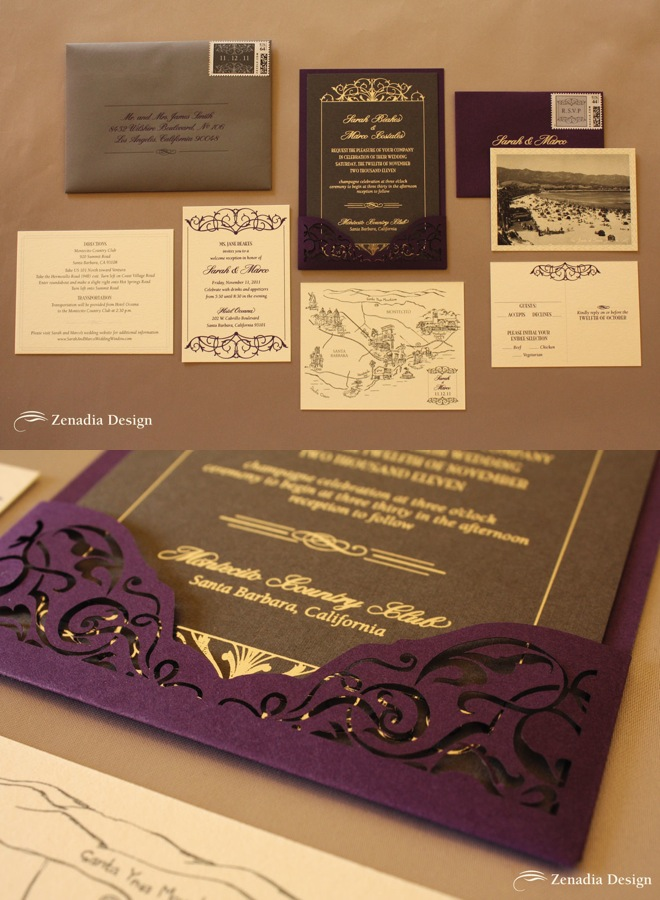 editor s pick luxurious wedding invitations from zenadia design