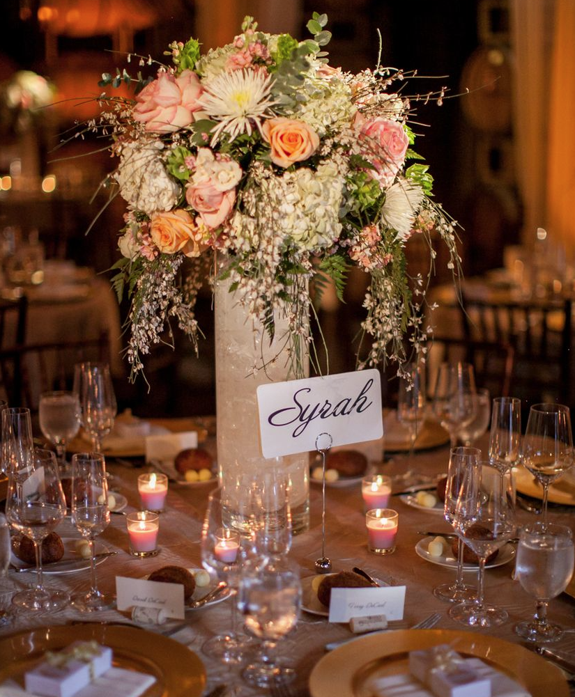 Elegant Wedding Reception Decoration: California Wedding With Rustic Elegance