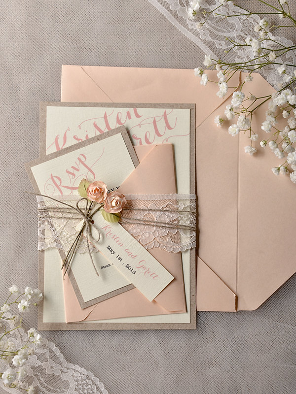 Rustic Chic Wedding Invitations and get inspiration to create nice invitation ideas