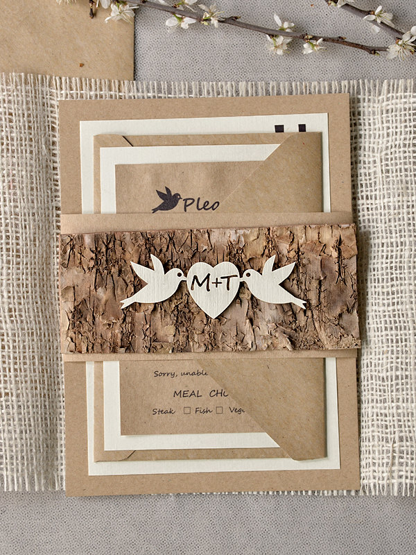 mod finds: rustic chic wedding invitations - modwedding, Wedding invitations