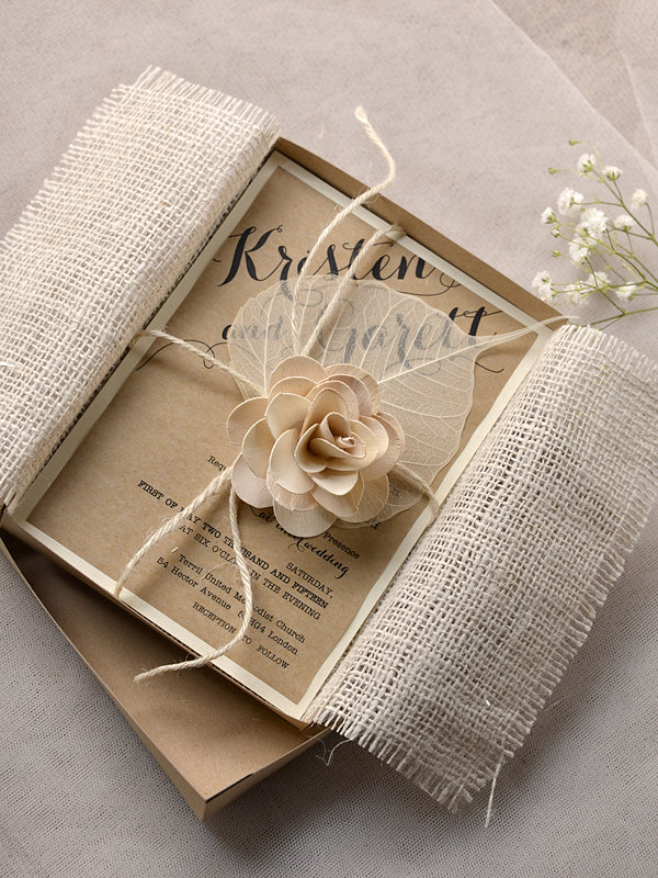 Merveilleux Rustic Wedding Invitation 8 06142014nz