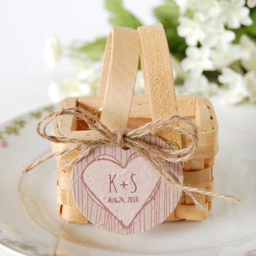 Wedding Favor Ideas 2014 : Personalized Rustic Tree Plantable Favor Tag