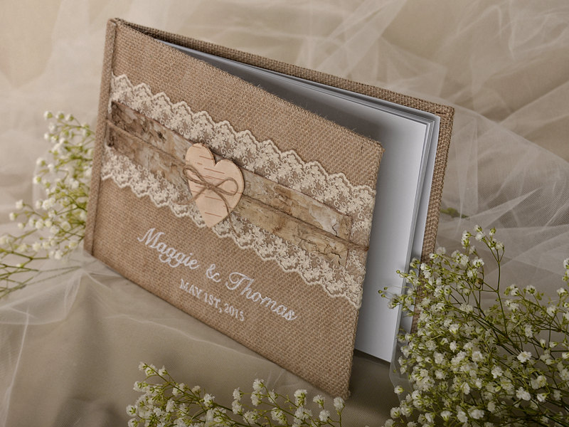 Shabby Chic Wedding Guest Book Idea
