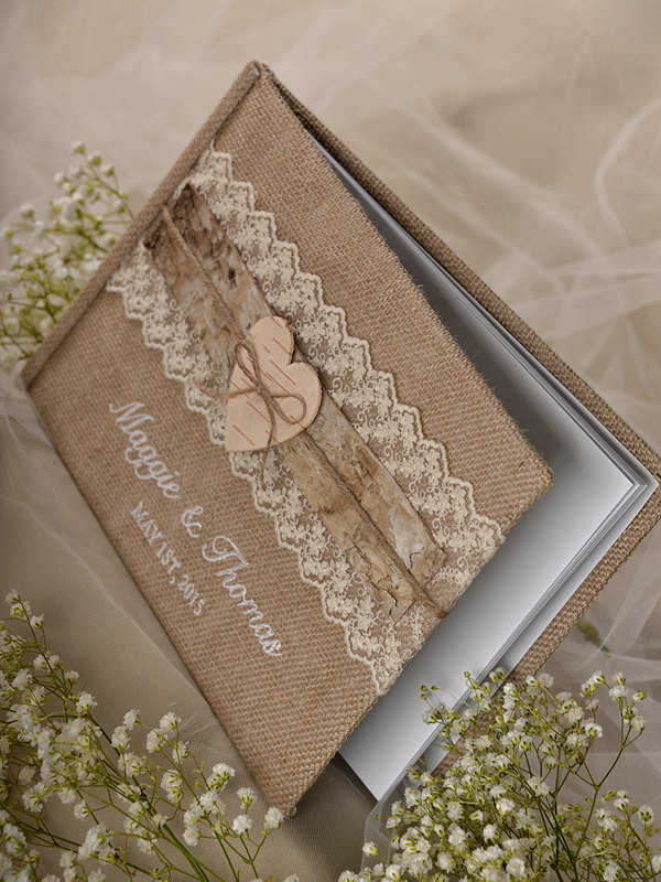 Wedding Guest Book Cover Ideas : Shabby chic wedding guest book idea modwedding