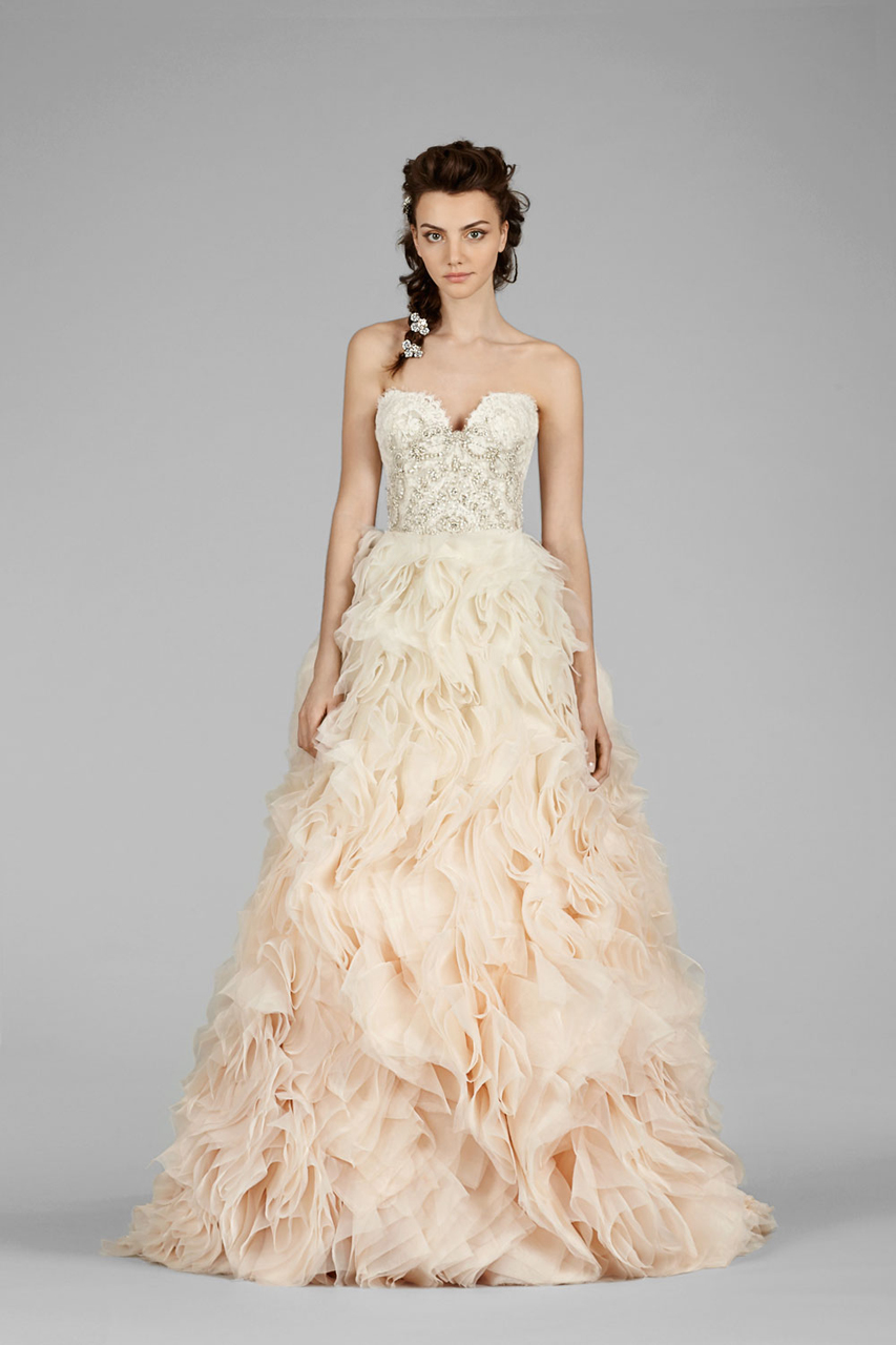 The Latest Lazaro Wedding Dresses Modwedding