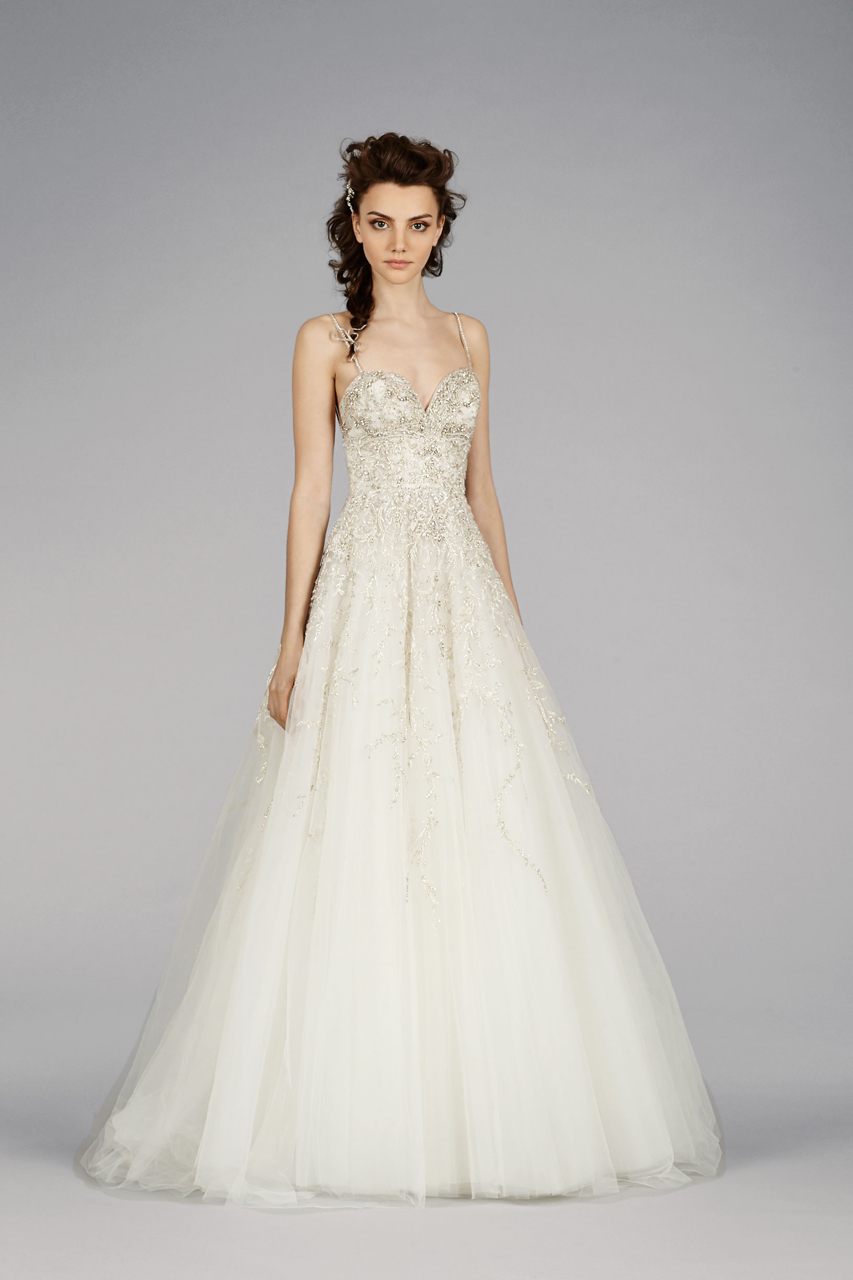The latest lazaro wedding dresses modwedding for Where to buy lazaro wedding dresses