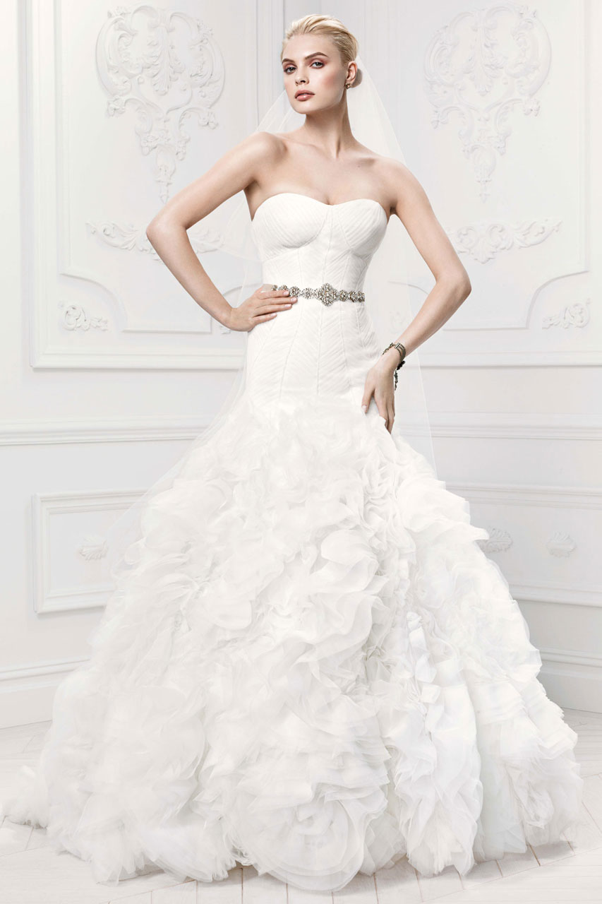 Zac posen wedding dresses for david 39 s bridal modwedding for Wedding dress david bridal