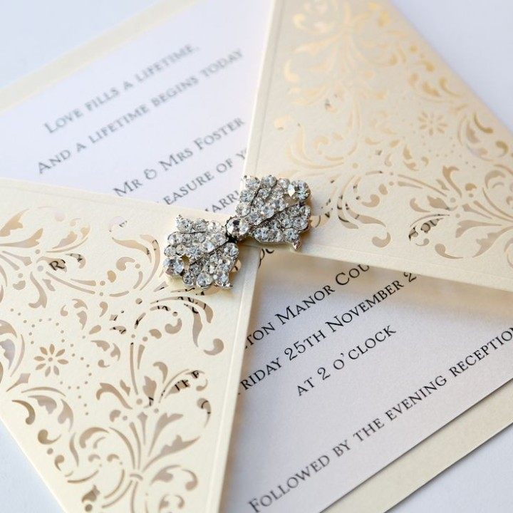 Super Unique Laser Cut Wedding Invitations - MODwedding