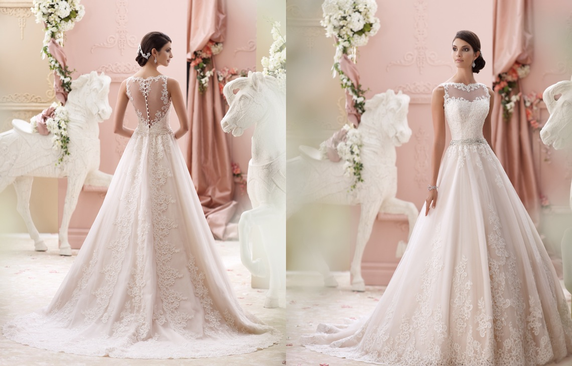 David tutera wedding dresses 2015 collection modwedding junglespirit Image collections